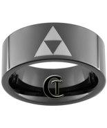 9mm Tungsten Carbide Pipe Legend of Zelda Triforce Design Ring Sizes 5-15 - $49.00