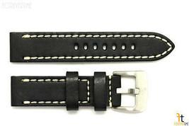 26mm Negro Cuero Liso Correa para Reloj de Pulsera con / Pespuntes para Luminox - $45.54