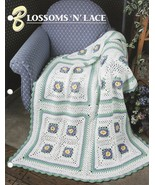 Blossoms n Lace Afghan Crochet Pattern Annie's  - $12.99