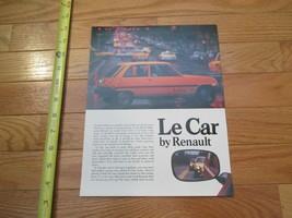 Renault Le Car  view2 Car truck Dealer Sales Brochure - $9.99