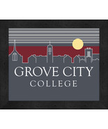 Grove City College 13 x 16 Uscape with Retro Skyline Framed Print  - $39.95