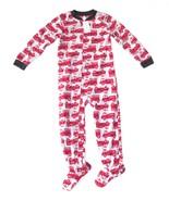 Boy Carters Fleece Footed Pajama Blanket Sleeper 6 8 10 Fire Engine Ladd... - $23.74