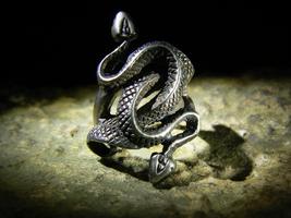 INANNA ISHTAR MESOPOTAMIAN SUPREME GODDESS Antique Snakes Ring izida hau... - $480.00