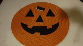 New Round orange table mat with JACK O LANTERN face / nice - $12.19