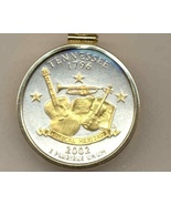 State of Tennessee, 2-Toned, Gold on Silver, U.S. Quarter Pendant Necklace - $85.00