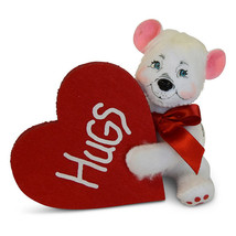 Annalee Dolls 6in 2018 Valentine Bear Hugs Plush New with Tags - $11.87