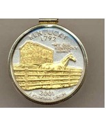 State of Kentucky, 2-Toned, Gold on Silver, U.S. Quarter Pendant Necklace - $85.00