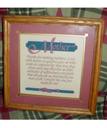 Mother Wall Plaque Thanks For Making Mothers By Imagine Design - $12.00