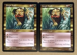 Jungle Troll 2X mtg Mirage Gold - Uncommon - Fast Shipping - $1.48