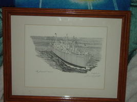 The Jeremiah O' Brien Signed By Jim Campbell Boat Wal Art Picture Frame ... - $275.00