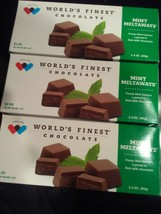 WORLD'S FINEST CHOCOLATE Mint  Meltaways 3 Bxs  Mint Centers in Milk Cho... - $5.89