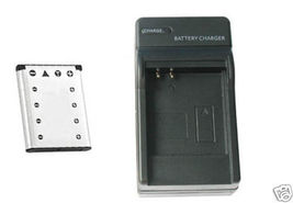 Battery + Charger for Casio EX-S5 EXS5 EX-S5BE EX-S5BK - $11.92