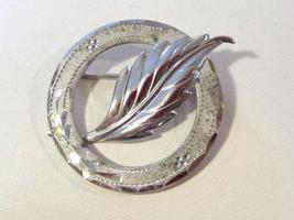 Antique Vintage Art Deco sterling silver Leaf pin/brooch - $18.00