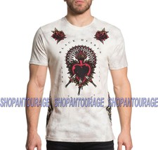 Affliction Pierced Heart A19636 New Men`s Black Label Collection T-shirt - $56.95