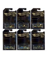 Hot Wheels 50th Anniversary 6 Car Set Black and Gold Collection - $14.99