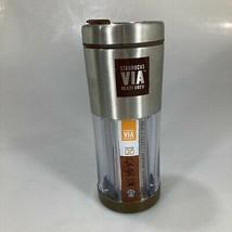 Starbucks VIA Ready Brew Stainless Steel Travel Tumbler Mug 10 oz NEW - $27.93