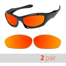 2 Pair Optico Replacement Polarized Lenses for Oakley Monsterdog Sunglasses Red - $16.99