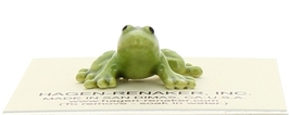 Hagen-Renaker Miniature Ceramic Frog Figurine Tiny Papa Frog and Baby Frog Set image 7