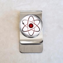 Atom Atomic Model Physics Science Nerd Math Stainless Steel Money Clip - $20.00