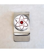Atom Atomic Model Physics Science Nerd Math Stainless Steel Money Clip - $20.00