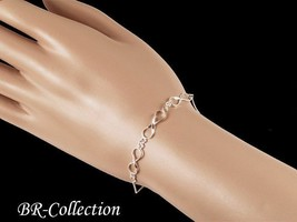 Pure 925 Sterling Silver Infinity Bracelet - $12.82