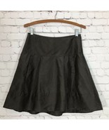 Laundry by Shelli Segal Washed Silk Skirt Womans 4 Slate Brown A-line Si... - $19.30