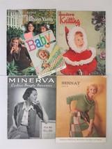 1940-80 vintage 5 KNITTING PATTERN BOOKS bernat minerva sweater snow sui... - $48.95