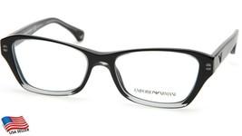 New Emporio Armani Ea 3032 5220 Trans Black Eyeglasses Frame 52-16-140 B34mm - $53.41