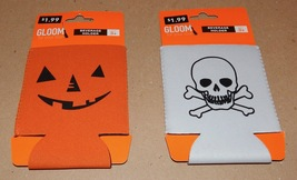Halloween Beverage Holders Gloom For Your Room Skull & Pumpkin 116E - £2.71 GBP