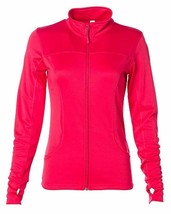 Global Blank Women's Slim Fit Lightweight Full Zip Up Yoga Workout Jacket - $49.99