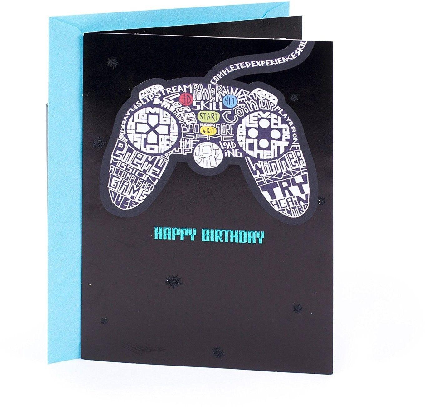 Hallmark Birthday Greeting Card For Him (Video Games Level Up) - $17.85