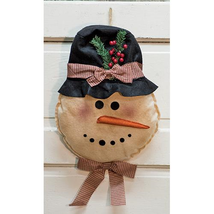 Stiched Rustic Snowman Door Hanger Christmas Door decor  - £22.35 GBP