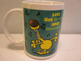 Grimmy Let's Get Green and Boogie Coffee Mug 1989 Enesco 18 Ounces - $9.85