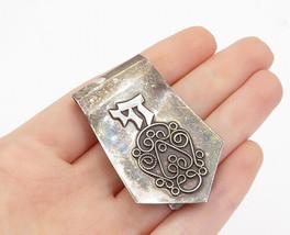NADAV ISRAEL 925 Sterling Silver - Vintage Swirl Twist Detail Money Clip - T2459 - $57.61