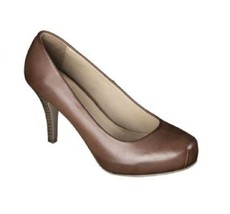 Womens Mossimo Veruca Snub Toe High Heel Pumps Shoes Brown 10 - $17.99