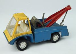 Vintage 1969 Diecast Hubley Toy Wrecker Tow Truck Gabriel Blue Yellow VG cond - $37.39
