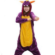 Adults' Kigurumi Pajamas Dragon Onesie Pajamas Coral fleece Cosplay For ... - $18.00