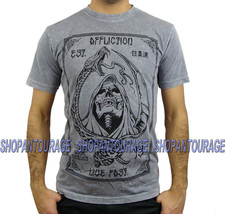 AFFLICTION Control A9641 New Men`s Silver T-shirt - $35.96