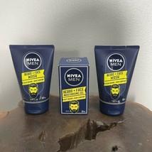 NEW Lot of 3 Men's Nivea - 2 Beard & Face Wash 3.38oz 1 Moisturizing Gel 1.69oz - $28.03