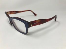 MIU MIU Eyeglasses Frame Italy VMU02I PC5-1O1 52-16-140 Light Blue/Tortoise P589 - $53.44