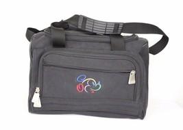 Vintage 90s Walt Disney Colorful Mickey Mouse Handled Weekender Travel Bag Black - $44.50
