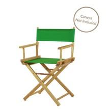 Folding Directors Chair Green Wood Frame 18 inches Indoor Outdoor Unique... - $47.23