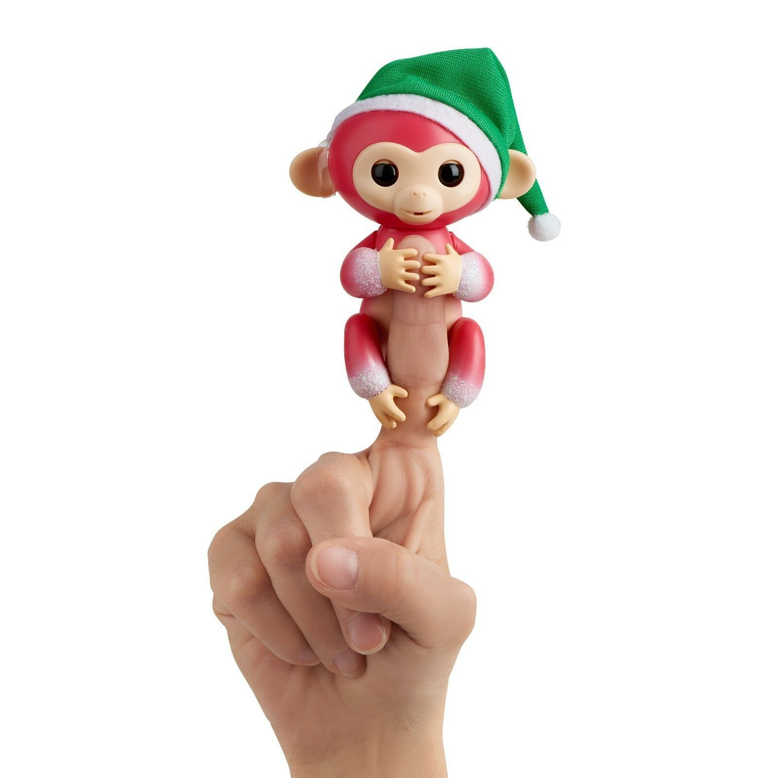 Wow Wee Fingerlings Interactive Baby Monkeys 2-Pack Mini Holly (Green), Jolly (R