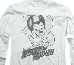 Mighty Mouse superhero Retro Saturday cartoon classics long sleeve tee CBS1136 image 2
