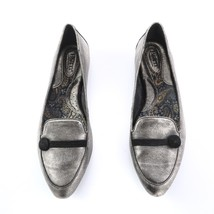 Born Metallic Pewter Leather Slip On Loafers Flats Shoes Womens 11 EUR 43 - $29.62