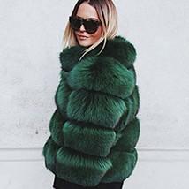 Women's Winter Luxury Fashion Faux Fur Shaggy Thicken Warm Coat image 1