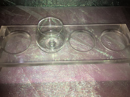 Whimsical Unique beer or wine flight sampler holder. Clear acrylic for a... - $43.00