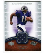 Troy Smith 2007 Upper Deck Sweet Spot Swatch Jersey Card SS-TS2 Baltimor... - $3.00