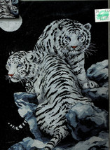 """'Moonlit Tigers' Design Works 16 x 23"""" Counted Cross Stitch Kit 2544 New 2009 - $21.78"""