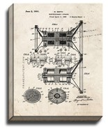 Electrodynamic Speaker Patent Print Old Look on Canvas - $69.95 - $89.95
